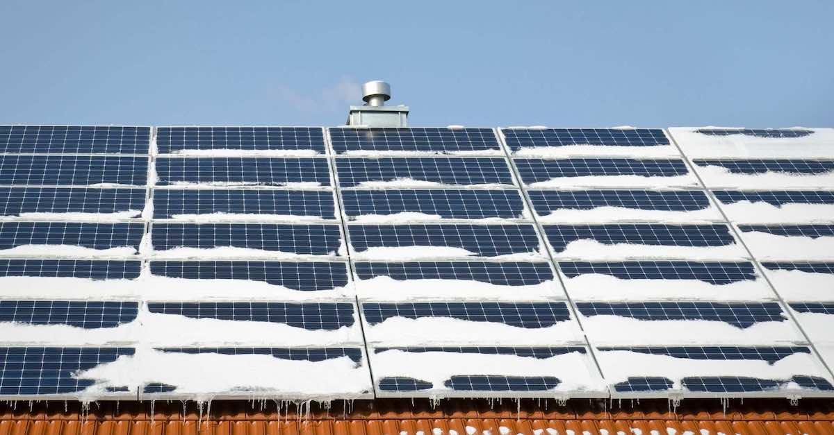 solceller producerar mindre el under vintern